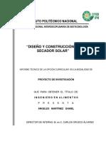Calculoo)Diseño y Construcción de Un Secador Solar. Angeles Martínez (1)