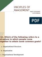 Principles of Management MCQ