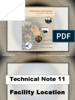 Ch 11A. Technical Note Facility Location