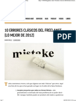 10 Errores Clásicos Del Freelance [Lo Mejor de 2012]