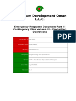 Emergency Response Document Part III Contingency Plan, Volume III Production Operations