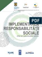 Implementarea Responsabilitatii Sociale - Ghid de Instrumente Si Tehnici