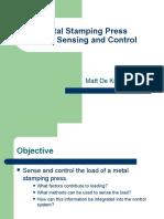 Metal Stamping Press Load Sensing