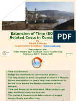 FIDIC Lecture - EOT &Amp; Related Costs in Construction