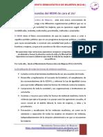 Demandas Del MDM Ante El 26J