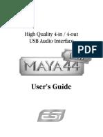Maya 44 Usb Manual