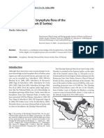 Contribution to the Bryophyte Flora of the Djerdap National Park (East Serbia) (2006)