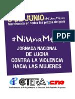Ni Una Menos Cuadernillo 2016