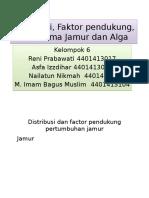 Kel 6_distribusi, Faktor Pendukung, Tata Nama Jamur Dan Alga
