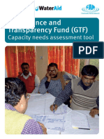 Gtf Capacity Needs Assessment Tool