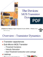 Lecture 9 - MOS Transistor Dynamics