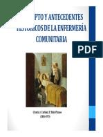 concepto historico de enfermeria comunitaria