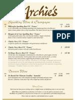 Wine List May10