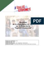 Synthèse projet de loi