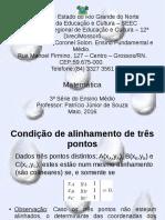 Geometria-Analitica_Aula03-Condição-de-alinhamento-três-pontos_Calculo-de-area-triângulo.odp