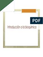Introducción a la Bioquímica