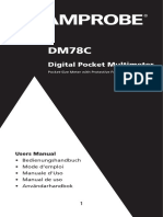 Amprobe DM78C User Manual