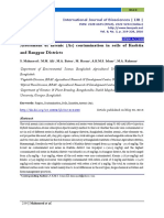 Assessment of Arsenic Contamination in Soils of Kustia and Rangpur Districts
