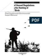 part 1- final seis- issuance of annual regulations permitting the hunting of migratory birds