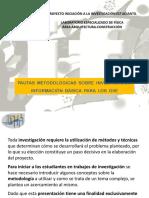 INTERFIS. DB03. PAUTAS METODOLÓGICAS. Información básica para los GIIE (Grupos de Iniciación a la Investigación Estudiantil)