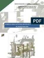 INTERFIS. DB08. RÚBRICA. Rúbrica para autoevaluación de propuestas de investigación