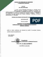 Aviz 5 Pe 2012, Prefectura Suceava, Comisia de Atribuire de Denumiri