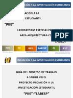 """INTERFIS. DB10. GUÍA. PIIE. GIIE. Proceso de trabajo a seguir en el proyecto """"PIIE""""-""""LABESP"""""""