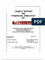Project Report on ICICI Bank by GAURAV NARANG