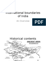International Boundaries of India