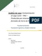 Caso Del LAgo Junin y Su Contaminación Con La Normativa Peruana