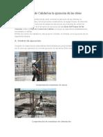 Plan de Control de Calidad en La Ejecución de Las Obras