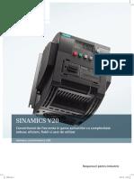 Sinamics V20 Brosura-Convertizor Frecventa RO