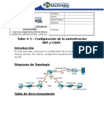 01 - [Redes de Comunicaciones] - P48 - Capítulo # 1 - [1 - Taller # 1 - Protocolo PPP Autenticación]