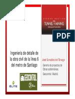 Tanago Geocontrol Ingenieria Detalle Obra Civil Linea 6 Santiago