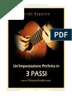Chitarra Impostazione perfetta in 3 passi