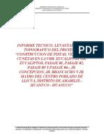 Informe Final Levantamiento Topográfico Llicua