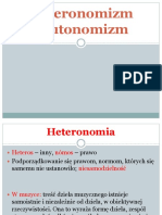 Heteronomizm i Autonomizm