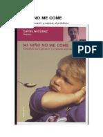 Mi Niño No Me Come (Pediatria)