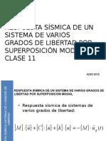 2015 UTEM ING ANTISISMICA CLASE 11 Sistema de n Grados de Libertad Version 2