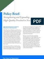 Strengthening High Quality Preschool Policy Brf 12 2007