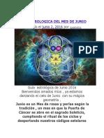 Guia Astrologica Del Mes de Junio