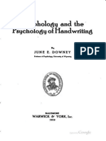Graphology and the Psychology of Handwriting