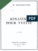 Montsalvatge - Sonatine Pour Yvette