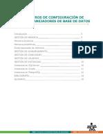 Parámentros de Configuracion de Sistemas Manejadores de Base de Datos