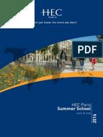 2016 Summer School Brochure