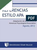 Manual de Referencias Estilo APA