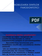 Imobilizarea Dintilor Parodontotici Curs 7
