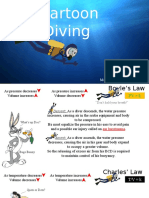 cartoon diving