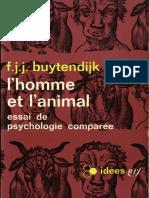 Buytendijk- L'Homme Et l'Animal