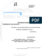 Transformador Trifásico en Aceite